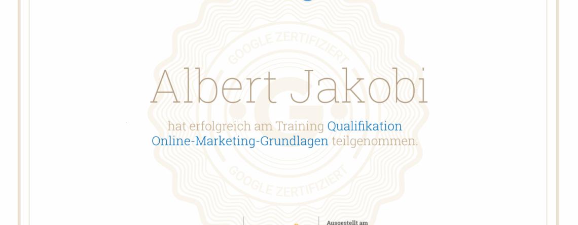 Online-Marketing Google zertifiziert - Lunexcode